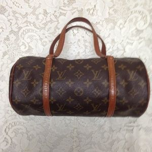 Louis Vuitton Brown Mono Papillon Handbag